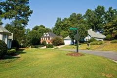 Vecindad americana típica Imagen de archivo