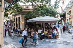 Vecindad Atenas Grecia de Plaka fotos de archivo
