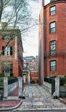 Vecindad Boston céntrica de Beacon Hill en Massachusetts América fotografía de archivo