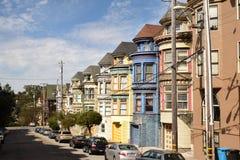 Vecindad colorida Fotografía de archivo