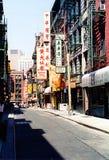 Vecindad de Chinatown en Nueva York imágenes de archivo libres de regalías