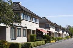 Vecindad de clase media Imagen de archivo