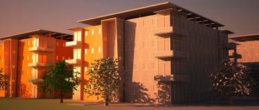 Vecindad de Digitaces en la construcción. Fotografía de archivo libre de regalías