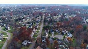 Vecindad de establecimiento aérea de Pennsylvania del tiro del día metrajes