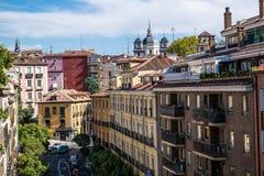 Vecindad de Latina del La en Madrid, España foto de archivo