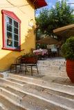 Vecindad de Plaka en Atenas Foto de archivo libre de regalías