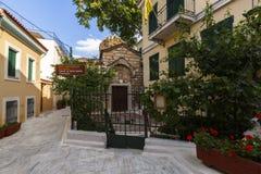 Vecindad de Plaka en Atenas Fotografía de archivo