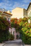 Vecindad de Plaka en Atenas Imagen de archivo libre de regalías