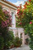 Vecindad de Plaka en Atenas Imagen de archivo