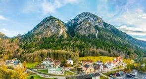 Vecindad del castillo de Neuschwanstein Fotos de archivo libres de regalías