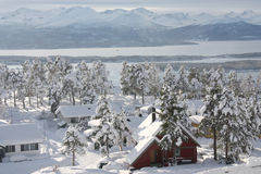 Vecindad del invierno Foto de archivo
