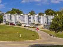 Vecindad hermosa de Riverview en Tulsa - TULSA - OKLAHOMA - 17 de octubre de 2017 Imagen de archivo