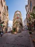 Vecindad ocupada de Estambul Fotografía de archivo