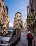 Vecindad ocupada de Estambul Fotos de archivo