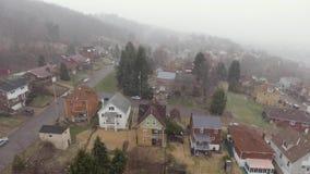 Vecindad residencial de levantamiento Nevado de la opinión de la correa aérea del moho metrajes