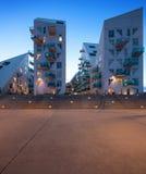 Vecindad residencial en Aarhus en Dinamarca Imagenes de archivo
