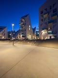 Vecindad residencial en Aarhus en Dinamarca Imágenes de archivo libres de regalías