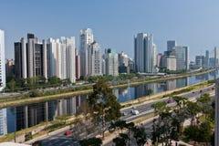 Vecindad Sao Paulo de Brooklin Foto de archivo libre de regalías