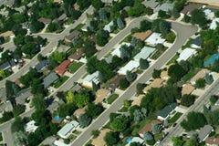 Vecindad suburbana Fotos de archivo