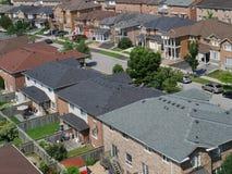 Vecindad suburbana Imágenes de archivo libres de regalías