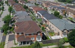 Vecindad suburbana Imagen de archivo