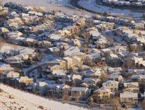 Vecindad suburbana desde arriba Fotos de archivo