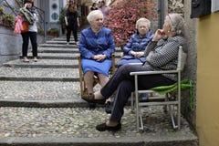 Vecinos y amigos Foto de archivo libre de regalías