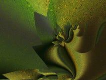 veck Guld--gräsplan för siden- tyg stock illustrationer