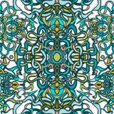 Vecor五颜六色的抽象无缝的样式 库存照片