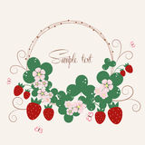 Vecor background with strawberries Stock Photo