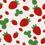 Vecor background with strawberries Stock Photos