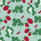 Vecor background with strawberries Royalty Free Stock Photography