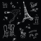 Vecor graphic texture in Paris style Stock Image