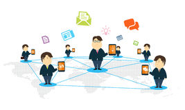 Vecor people mobile online business concept. People business communication online concept Stock Photography