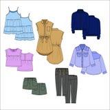 Vecor scherza i vestiti colore Fotografia Stock