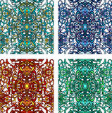 Vecor set of colorful abstract seamless pattern royalty free illustration