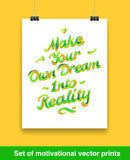Vecor set of motivation quote. Mock up Royalty Free Stock Image