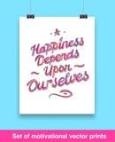Vecor set of motivation quote. Mock up Royalty Free Stock Photo
