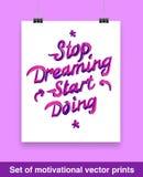 Vecor set of motivation quote. Mock up Stock Image