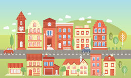 Vector town set Royalty Free Stock Image