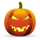 Vecorillustratie geïsoleerde achtergrond van Halloween van het pompoenpictogram Stock Foto