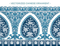 Vecorized Chinees ornament Royalty-vrije Stock Afbeeldingen