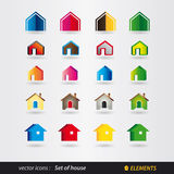 Set of logo house - real estate Stock Image