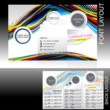 Vecotr colorful wave brochure design Royalty Free Stock Images