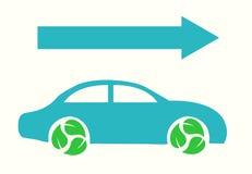 Vecror Eco samochód z Strzałkowatą Płaską ilustracją eps10 Zdjęcie Stock