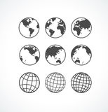 Vecrot Globe Icon Set. Stock Photography