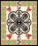 vect переченя декора cartouche Стоковое фото RF