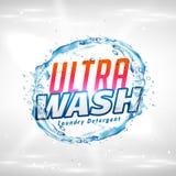 vect för design för begrepp för idérik produkt för tvätteritvättmedel förpackande stock illustrationer