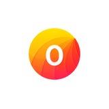 Vect för symbol för företag för tecken för symbol för bokstav för logo för nolla för abstrakt begrepplägenhetcirkel Arkivfoton