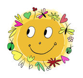 Vecter merry sun Royalty Free Stock Photo